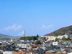屋上から見た五月山